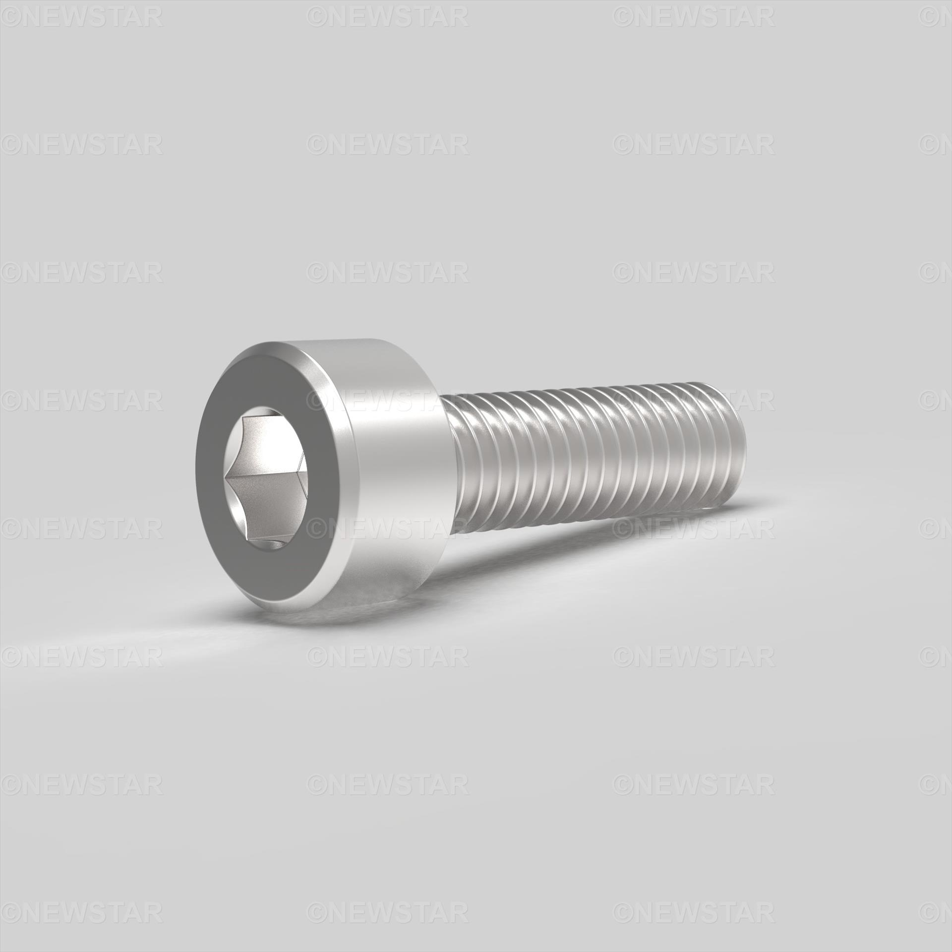 M1.4 X 2 Socket Cap Screw DIN 912 A2 Stainless Steel
