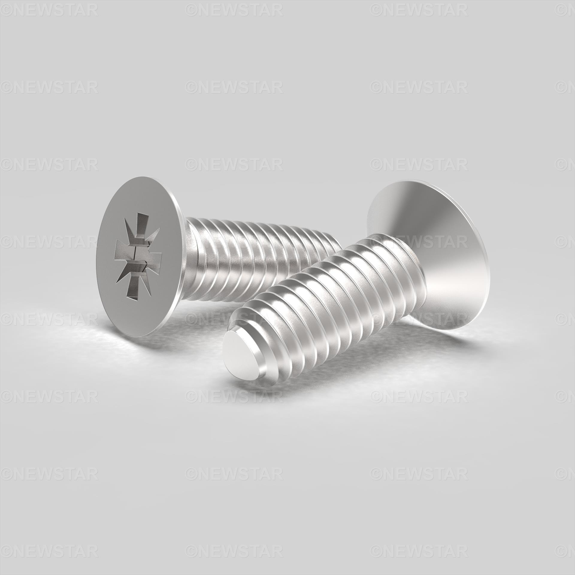 M3 X 16 Countersunk Pozi Thread Forming Screw DIN7500M Steel Zinc